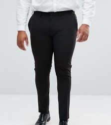 ASOS DESIGN Plus super skinny fit suit trousers in black - Black
