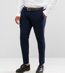 ASOS DESIGN Plus super skinny fit suit trousers in navy - Navy
