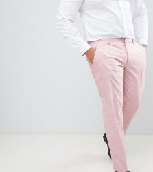 ASOS DESIGN Plus Wedding Skinny Suit Trousers In Pink Cross Hatch - Pink