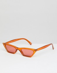 ASOS DESIGN pointy square sunglasses - Brown