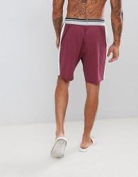 ASOS DESIGN pyjama shorts in short length with stripe waistband - Red