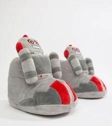 ASOS DESIGN robot slipper boots in grey - Grey