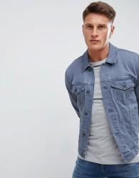ASOS DESIGN skinny denim jacket in blue wash - Blue