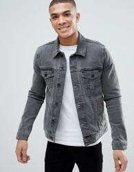 ASOS DESIGN skinny denim jacket in grey - Grey