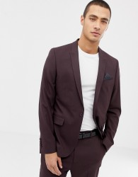 ASOS DESIGN skinny suit jacket in dark brown - Brown