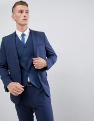ASOS DESIGN skinny suit jacket in mid blue - Blue