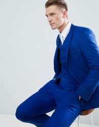 ASOS DESIGN skinny suit jacket in royal blue - Blue