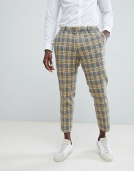 ASOS DESIGN Skinny Suit Trousers In Yellow Tartan Check - Yellow