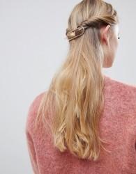 ASOS DESIGN sleek open circle barette hair clip in rose gold - Copper