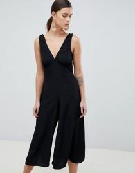 ASOS DESIGN Sleeveless Tea Jumpsuit - Black