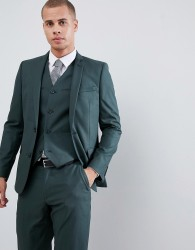 ASOS DESIGN slim suit jacket in forest green - Green