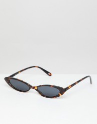 ASOS DESIGN Small Cat Eye Fashion Glasses - Brown