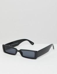 ASOS DESIGN small rectangular frame sunglasses - Black