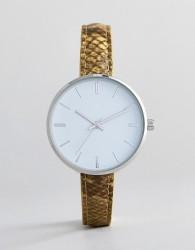 ASOS DESIGN Snakeskin Watch - Yellow