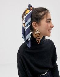 ASOS DESIGN spliced floral and spot headscarf/neckerchief - Multi