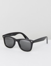 ASOS DESIGN square sunglasses in black - Black