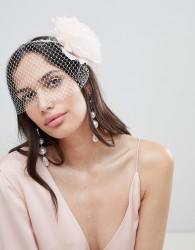 ASOS DESIGN Statement Floral And Intricate Veil Headband - Multi