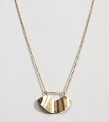 ASOS DESIGN sterling silver fluid shape satin finish necklace - Gold