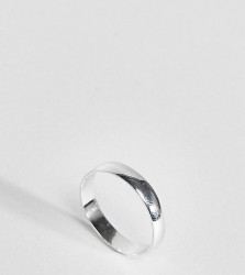 ASOS DESIGN sterling silver sleek thick band ring - Silver