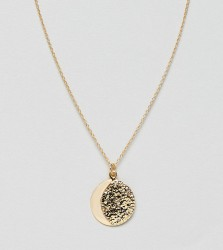 ASOS DESIGN Sterling silver with gold plate necklace in half moon design - Gold