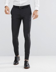 ASOS DESIGN super skinny fit suit trousers in charcoal - Grey