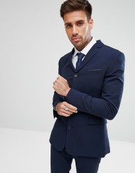 ASOS DESIGN super skinny four button suit jacket in navy - Navy