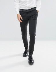 ASOS DESIGN super skinny smart trousers in charcoal - Grey