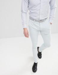 ASOS DESIGN Super Skinny Smart Trousers In Ice Blue - Blue