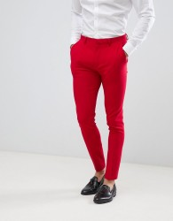 ASOS DESIGN super skinny suit trousers in red - Red