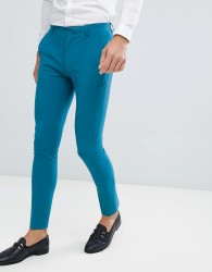 ASOS DESIGN super skinny suit trousers in teal - Blue