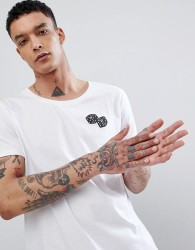 ASOS DESIGN t-shirt print with dice chest print - White