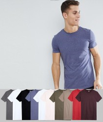 ASOS DESIGN T-Shirt With Crew Neck 10 Pack Save - Multi