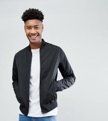 ASOS DESIGN Tall bomber jacket in black - Black