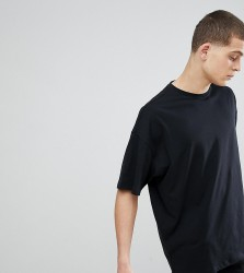 ASOS DESIGN Tall oversized t-shirt with crew neck in black - Black