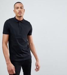 ASOS DESIGN Tall Polo Shirt In Black - Black