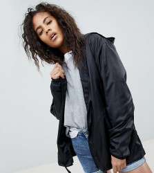 ASOS DESIGN Tall rain jacket with bum bag - Black