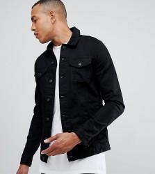 ASOS DESIGN Tall skinny denim jacket in black - Black