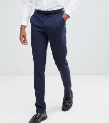 ASOS DESIGN Tall skinny suit trousers in navy - Navy