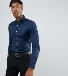 ASOS DESIGN Tall slim fit oxford shirt in navy - Navy