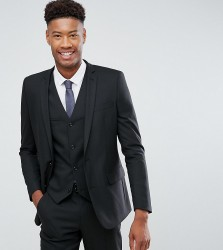 ASOS DESIGN Tall slim suit jacket in black - Black