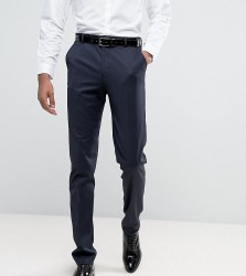 ASOS DESIGN Tall slim tuxedo suit trousers in navy - Navy
