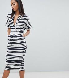 ASOS DESIGN Tall stripe midi dress with pockets - Multi
