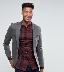 ASOS DESIGN Tall super skinny blazer in charcoal jersey - Grey