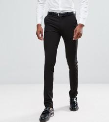 ASOS DESIGN Tall super skinny smart trousers in black - Black