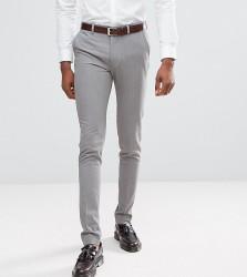 ASOS DESIGN Tall super skinny smart trousers in grey - Grey