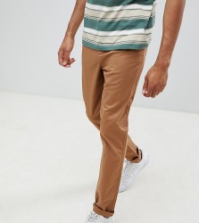 ASOS DESIGN Tall tapered chinos in camel - Brown