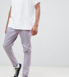 ASOS DESIGN Tall tapered chinos in pastel purple - Purple