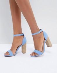 ASOS DESIGN Tamsina Heeled Sandals - Blue