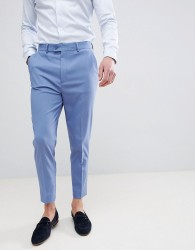 ASOS DESIGN Tapered Smart Trousers In Airforce Blue - Blue