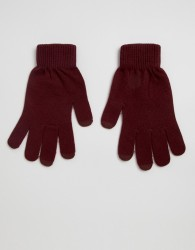 ASOS DESIGN touch screen gloves in recycled polyester - Red